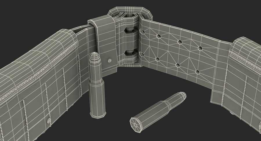 Martini Henry Ammo Bandolier royalty-free 3d model - Preview no. 22