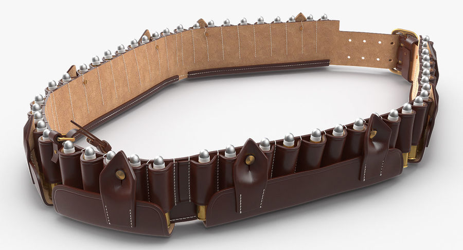 Martini Henry Ammo Bandolier royalty-free 3d model - Preview no. 8