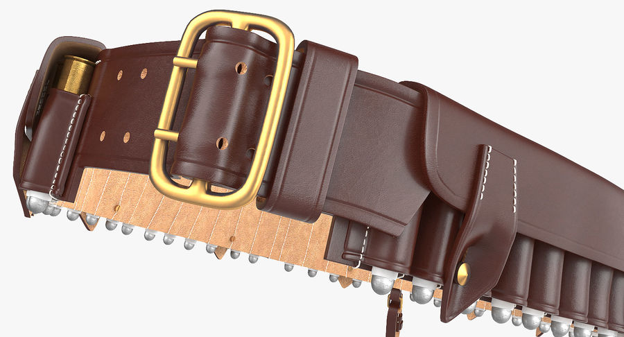 Martini Henry Ammo Bandolier royalty-free 3d model - Preview no. 9