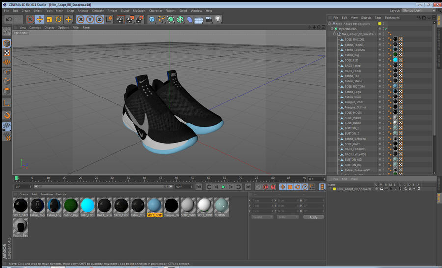 Nike Adapt BB Sneakers royalty-free 3d model - Preview no. 23