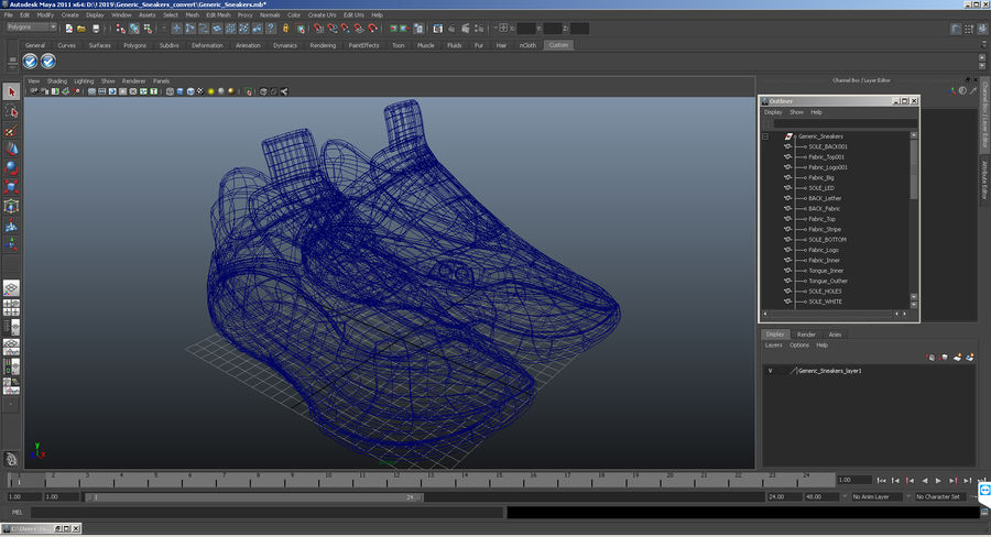 Nike Adapt BB Sneakers royalty-free 3d model - Preview no. 22
