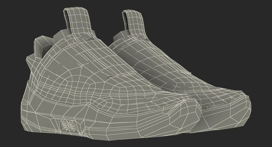 Nike Adapt BB Sneakers royalty-free 3d model - Preview no. 25