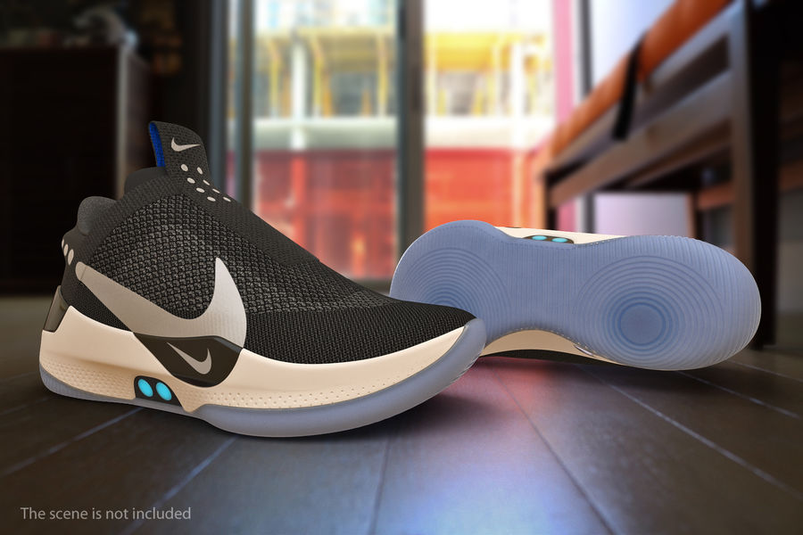 Nike Adapt BB Sneakers royalty-free 3d model - Preview no. 4