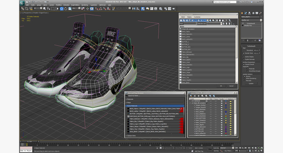 Nike Adapt BB Sneakers royalty-free 3d model - Preview no. 24