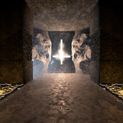 Dark Temple Environment 3d model