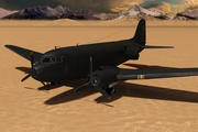 Militär lastplan 3d model