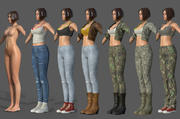 Character - Female Character Customize Bundle Pack 3d model