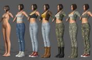 Karakter - Bundelpakket vrouwelijk karakter aanpassen 3d model