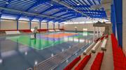 Реалистический Спортивный Зал Комплекс 3d model
