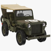 Militärjeep Willys 3d model