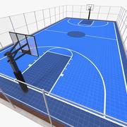 Boisko do koszykówki na zewnątrz 3d model