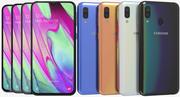 Samsung Galaxy A40 todas as cores 3d model