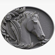 Horse Bas-relief for CNC 3d model
