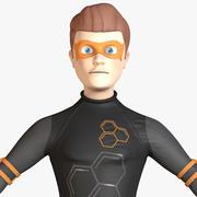 Personnage de super-héros de dessin animé homme 3d model