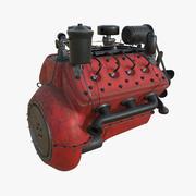 具有PBR纹理的老式引擎平头V8 3d model