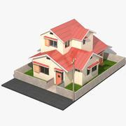 Casa japonesa do anime 3d model