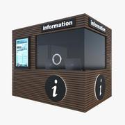 Tourist Information Kiosk 3d model