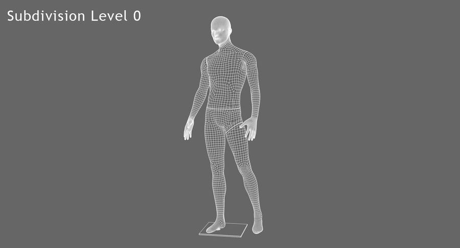 Mannequin homme royalty-free 3d model - Preview no. 9