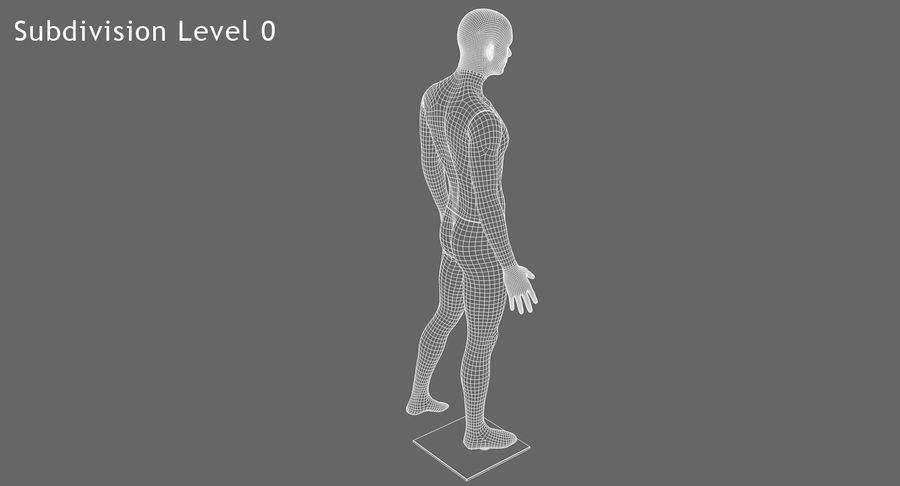 Mannequin homme royalty-free 3d model - Preview no. 15