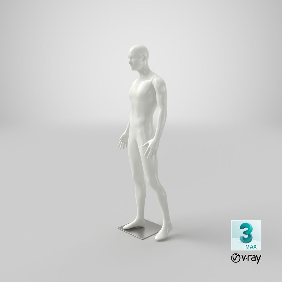 Mannequin homme royalty-free 3d model - Preview no. 19