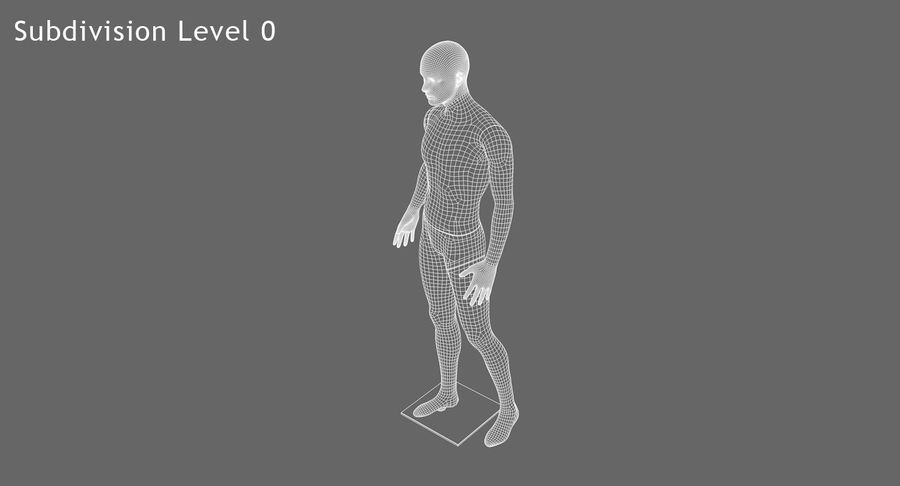 Mannequin homme royalty-free 3d model - Preview no. 11