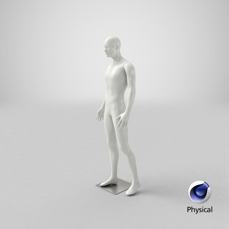 Mannequin homme royalty-free 3d model - Preview no. 21