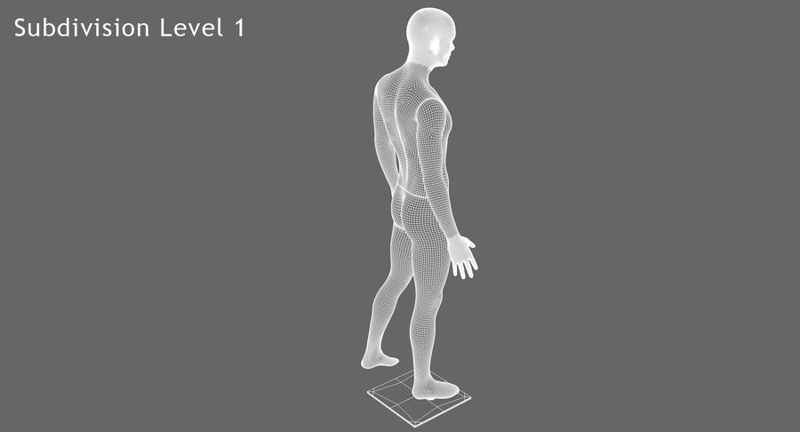 Mannequin homme royalty-free 3d model - Preview no. 16