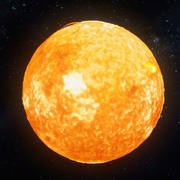 Realistische zon 3d model