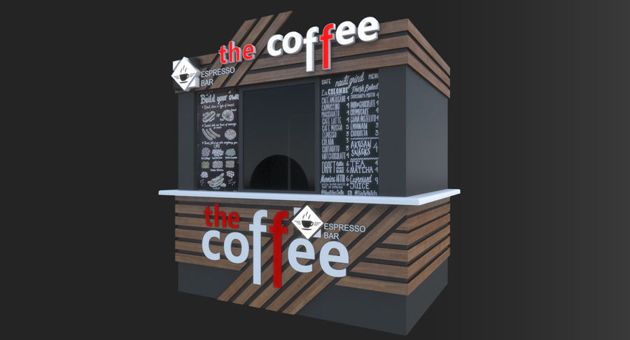 커피 샵 royalty-free 3d model - Preview no. 3