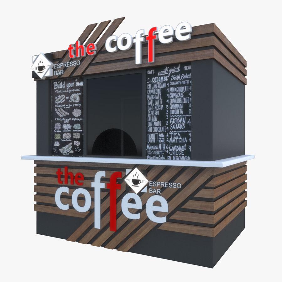 커피 샵 royalty-free 3d model - Preview no. 1