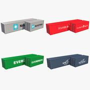 Zestaw 4 kolorowych pojemników_1 3d model