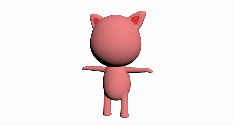 Cartoon Animal Character Pack royalty-free 3d model - Preview no. 85