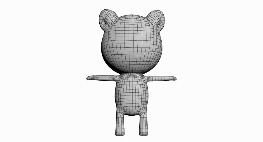 Cartoon Animal Character Pack royalty-free 3d model - Preview no. 25
