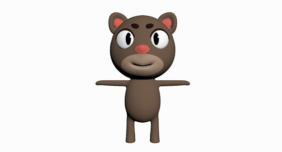 Cartoon Animal Character Pack royalty-free 3d model - Preview no. 18