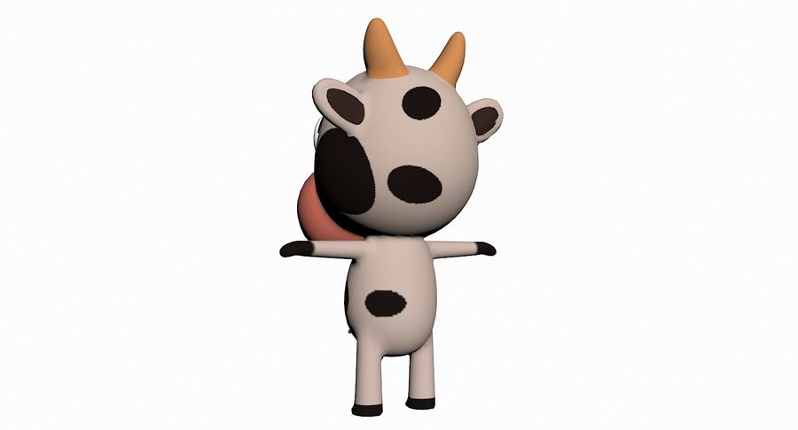 Cartoon Animal Character Pack royalty-free 3d model - Preview no. 28