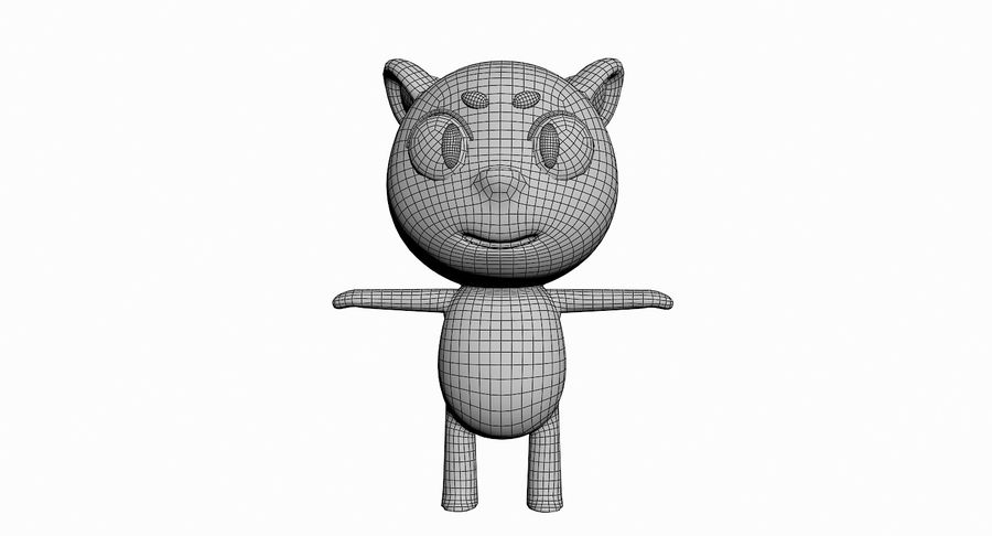 Cartoon Animal Character Pack royalty-free 3d model - Preview no. 96
