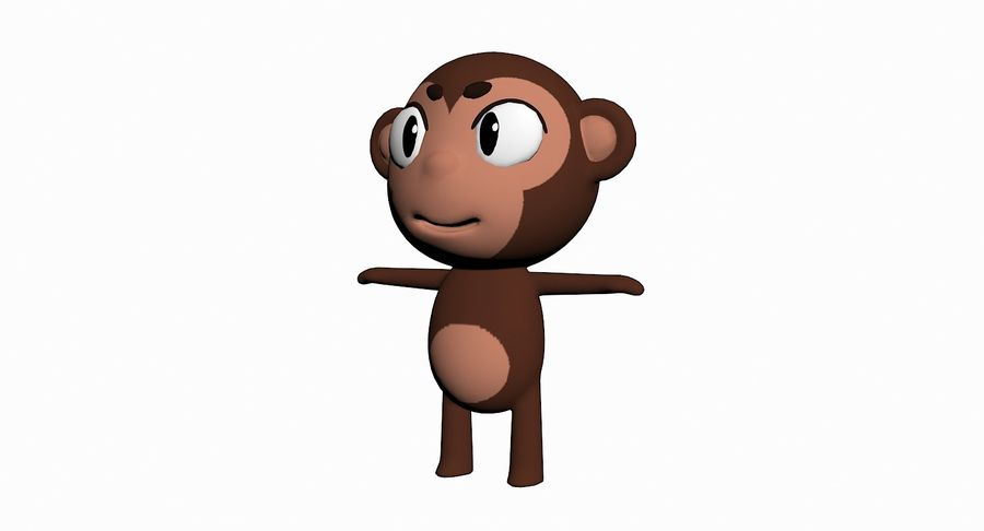 Cartoon Animal Character Pack royalty-free 3d model - Preview no. 67