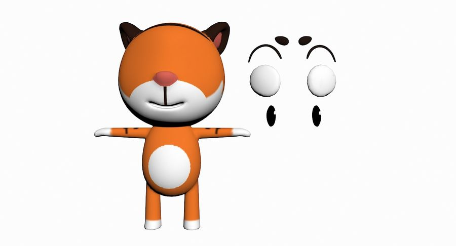 Cartoon Animal Character Pack royalty-free 3d model - Preview no. 95