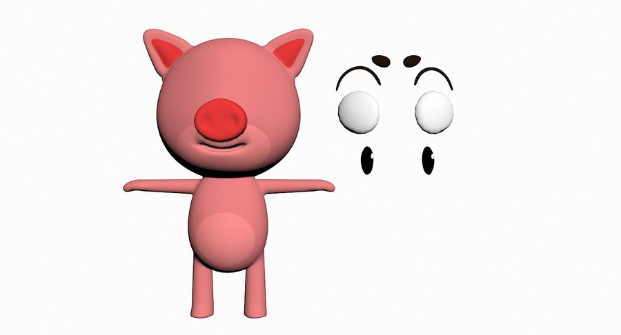 Cartoon Animal Character Pack royalty-free 3d model - Preview no. 87