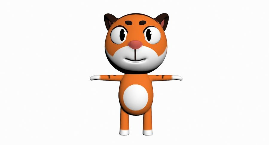 Cartoon Animal Character Pack royalty-free 3d model - Preview no. 90