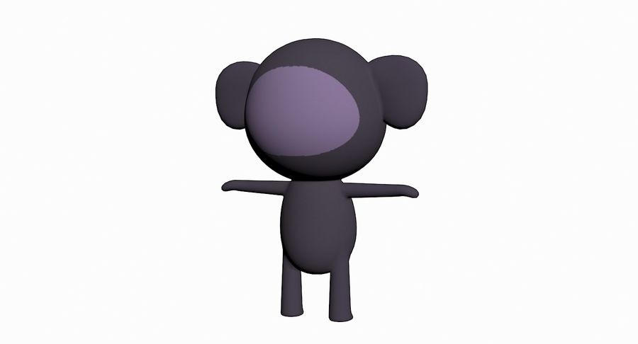 Cartoon Animal Character Pack royalty-free 3d model - Preview no. 51