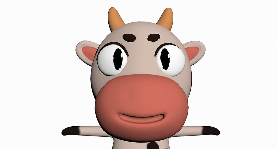 Cartoon Animal Character Pack royalty-free 3d model - Preview no. 30