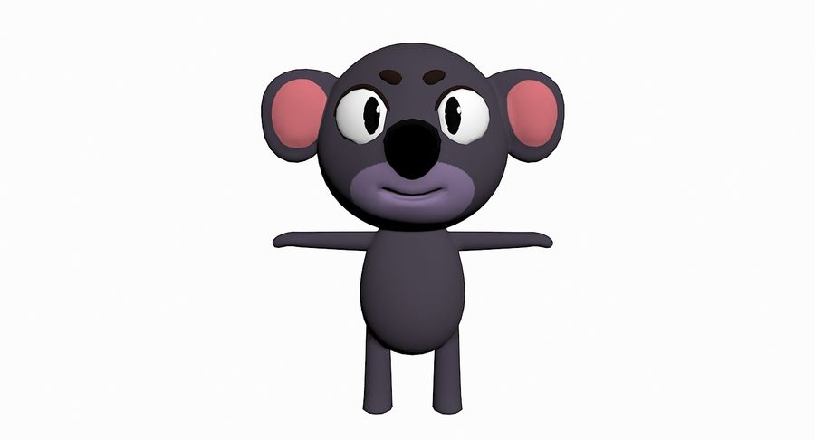 Cartoon Animal Character Pack royalty-free 3d model - Preview no. 46
