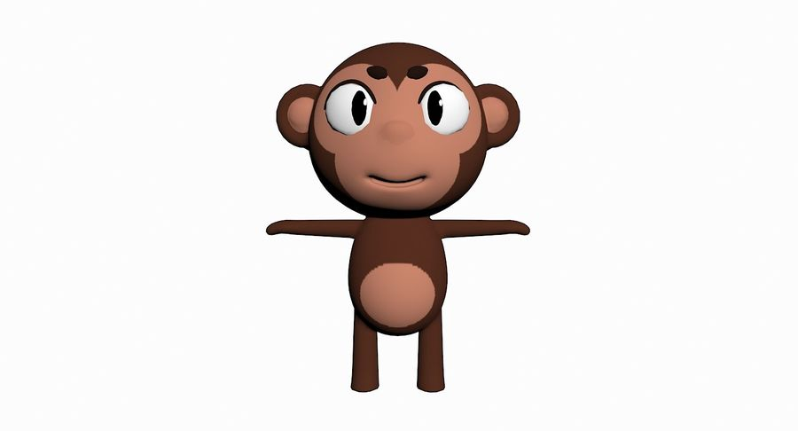 Cartoon Animal Character Pack royalty-free 3d model - Preview no. 66