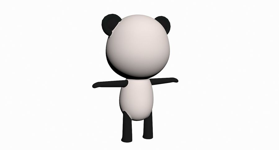 Cartoon Animal Character Pack royalty-free 3d model - Preview no. 76