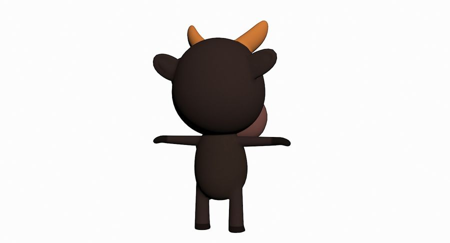 Cartoon Animal Character Pack royalty-free 3d model - Preview no. 13