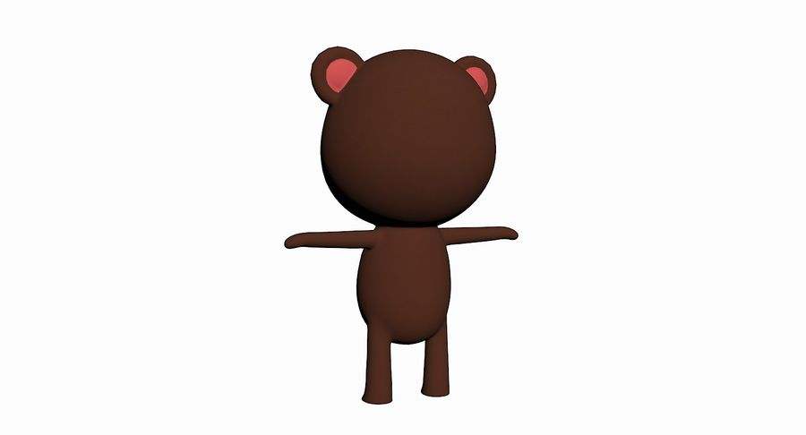 Cartoon Animal Character Pack royalty-free 3d model - Preview no. 4