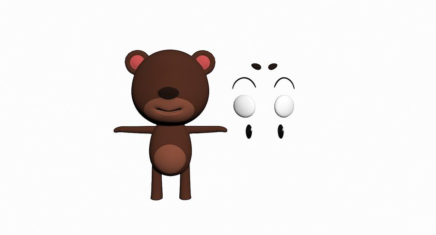 Cartoon Animal Character Pack royalty-free 3d model - Preview no. 7