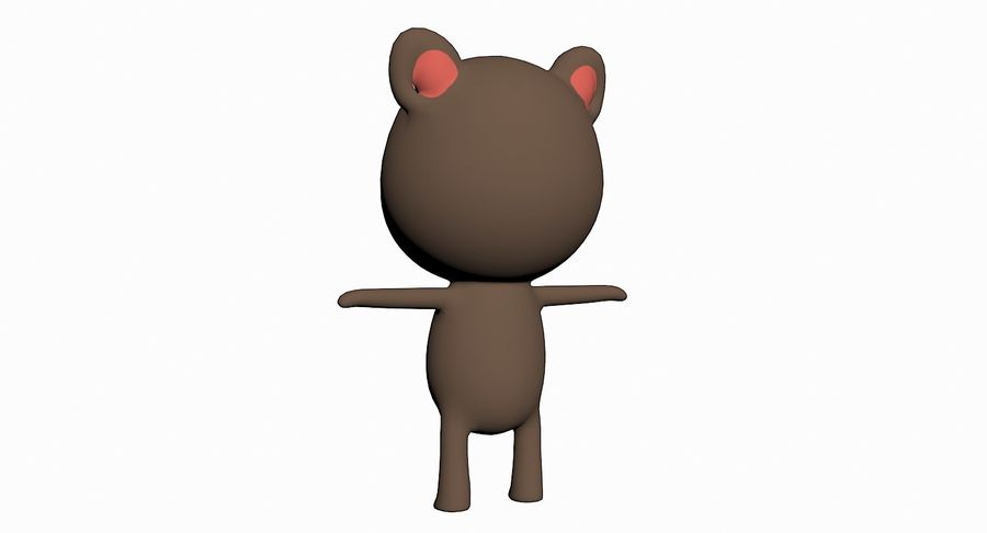 Cartoon Animal Character Pack royalty-free 3d model - Preview no. 20
