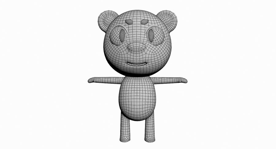 Cartoon Animal Character Pack royalty-free 3d model - Preview no. 80